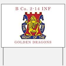 B Co 2-14 INF - Golden Dragon Yard Sign
