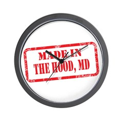 MADE IN THE HOOD, MD Wall Clock