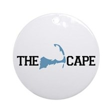 The Cape MA - Map Design Ornament (Round)