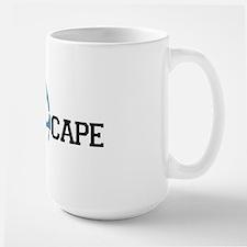 The Cape MA - Map Design Large Mug