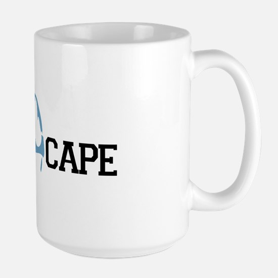 The Cape MA - Map Design Large Mug