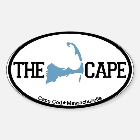 The Cape MA - Map Design Sticker (Oval)