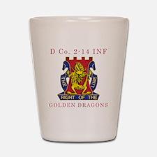 D Co 2-14 INF - Golden Dragon Shot Glass