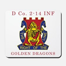 D Co 2-14 INF - Golden Dragon Mousepad