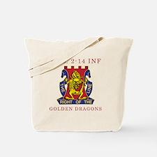 E Co 2-14 INF - Golden Dragon Tote Bag