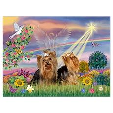 Cloud Angel & Yorkie Pair Poster