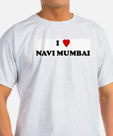 I Love Navi Mumbai Ash Grey T-Shirt