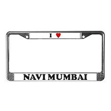 I Love Navi Mumbai License Plate Frame