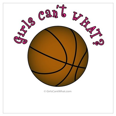 Brown/Pink Basketball Poster