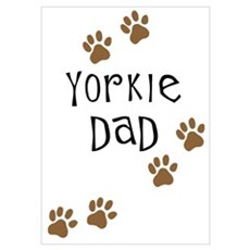 Yorkie Dad Poster