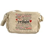 Twilight Quotes Messenger Bag