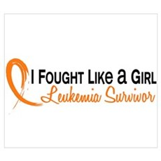 Fought Like a Girl Leukemia Framed Print