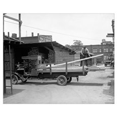 Kelly's Lumber Delivery Truck, 1926 Canvas Art