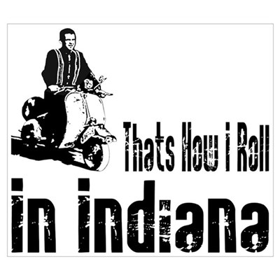 Vespa Scooter Indiana Poster