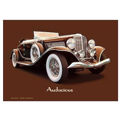'Audacious Auburn' Poster