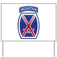 10th Mountain Division - Clim Yard Sign
