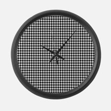 Houndstooth Heaven Large Wall Clock
