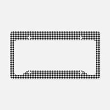 Houndstooth Heaven License Plate Holder