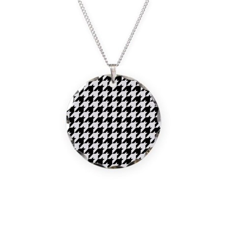 Houndstooth Heaven Necklace Circle Charm