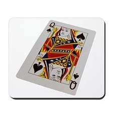 Queen of Clubs Mousepad