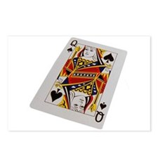 Queen of Clubs Postcards (Package of 8)