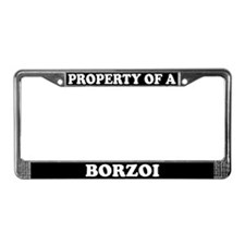 Property Of A Borzoi License Plate Frame