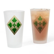 4th Infantry Division - Stead Drinking Glass