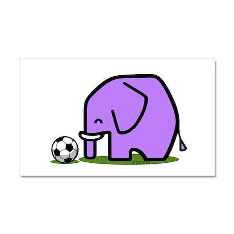 Soccer Elephant(1) Car Magnet 20 x 12