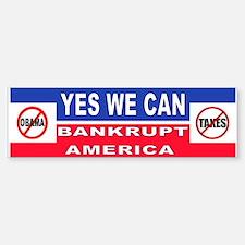 Unique Anti america bankrupt Sticker (Bumper)