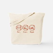 Eat Sleep Kayak (O) Tote Bag