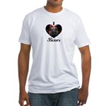 I HEART BOXERS Fitted T-Shirt