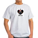 I HEART BOXERS Ash Grey T-Shirt