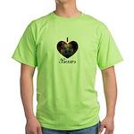 I HEART BOXERS Green T-Shirt