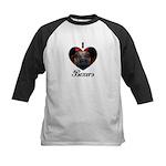 I HEART BOXERS Kids Baseball Jersey