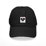 I HEART BOXERS Black Cap