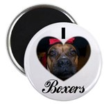I HEART BOXERS Magnet