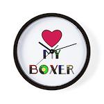 I HEART BOXERS Wall Clock