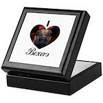 I HEART BOXERS Keepsake Box