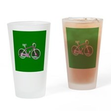 Bicyclette I Ride Green Tumbler Drinking Glass