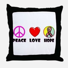 Peace Love Hope Throw Pillow