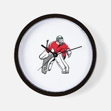 Funny Ice hockey Wall Clock