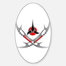 Klingon Emblem Sticker (Oval)