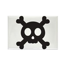 Skull & Crossbones Rectangle Magnet