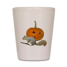 Squirrel Carving Pumpkin Shot Glass