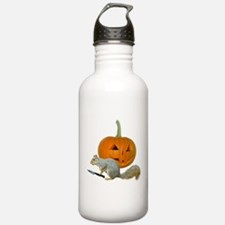 Squirrel Carving Pumpkin Water Bottle
