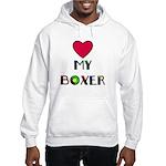 LOVE MY BOXER Hooded Sweatshirt