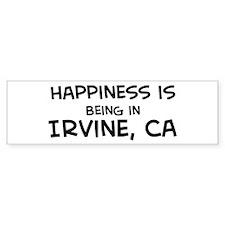 Happiness is Irvine Bumper Bumper Sticker