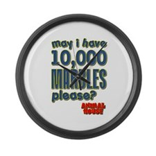 May I Have 10,000 Marbles Please? Large Wall Clock