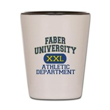 Faber University Athletic Department Shot Glass