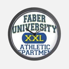 Faber University Athletic Department Wall Clock
